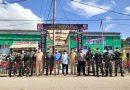 Satgas Pamrahwan Maluku Utara Tahun 2021 Yonif Raider khusus 732/Banau Melaksanakan Kegiatan Sosialisasi Prokes dan Pembagian Masker Kepada Masyarakat.